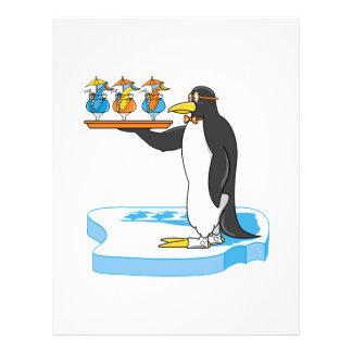 pingüino tonto del camarero tarjetón