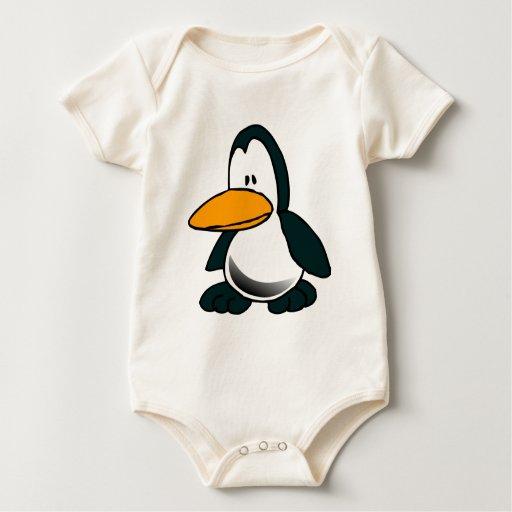 Pingüino tonto del dibujo animado enterito