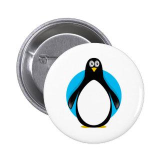 pingüino tonto del googy pin redondo 5 cm