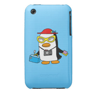 pingüino turístico iPhone 3 Case-Mate carcasa