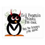 Pingüino usted chupa las postales