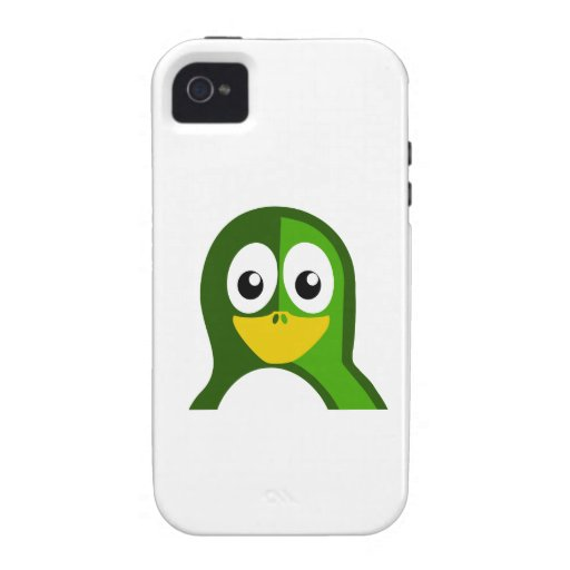 Pingüino verde vibe iPhone 4 carcasa