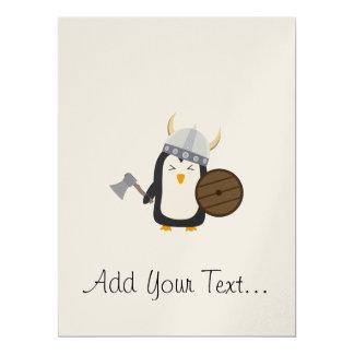 """Pingüino Viking Invitación 6.5"""" X 8.75"""""""