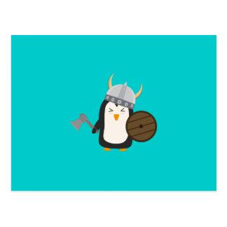 Pingüino Viking Tarjetas Postales