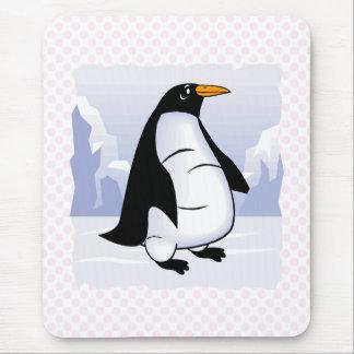 Pingüino voluminoso tapete de ratón