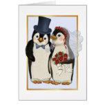 Pingüino Wedding- ninguna tarjeta de texto