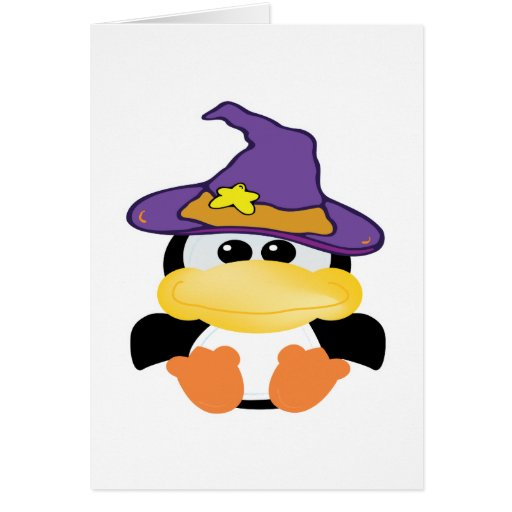 pingüino witchy de los goofkins tarjeta