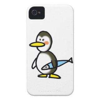 pingüino y pescados iPhone 4 Case-Mate cárcasa