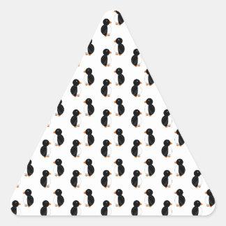 Pingüinos blancos colcomanias triangulo personalizadas