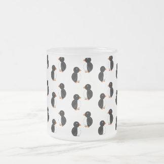 Pingüinos blancos tazas de café