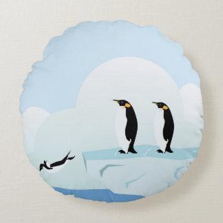 Pingüinos Cojín Redondo