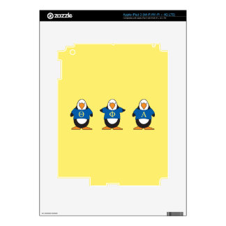 Pingüinos con el camisetas iPad 3 skin