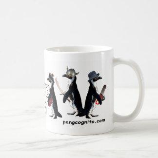 Pingüinos con la taza de las armas