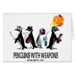 pingüinos con las armas tarjeta