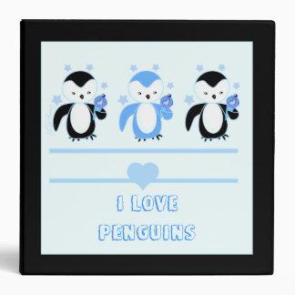 Pingüinos con las carpetas del helado y del