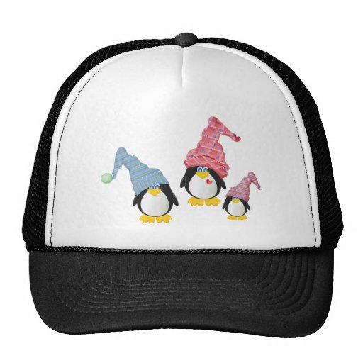 Pingüinos con los gorras