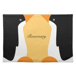 Pingüinos de emperador lindos en un Placemat Manteles