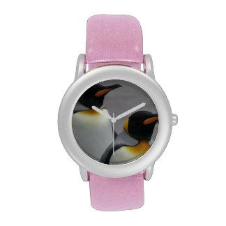 Pingüinos de emperador relojes de pulsera