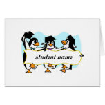 Pingüinos de graduación felices w/Banner del baile