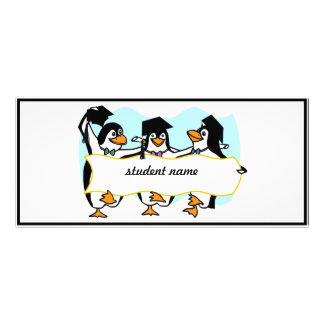 Pingüinos de graduación felices w/Banner del baile Lonas