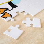 Pingüinos de graduación w/Banner del dibujo animad Puzzles Con Fotos