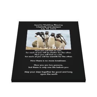 Pingüinos de la bendición del boda de Apache Impresión En Lienzo Estirada