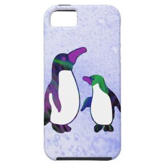 Pingüinos de la fantasía iPhone 5 fundas