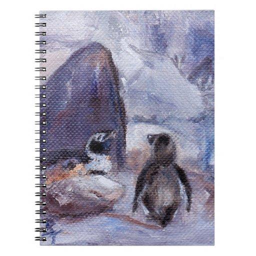 Pingüinos de la jerarquización libretas espirales