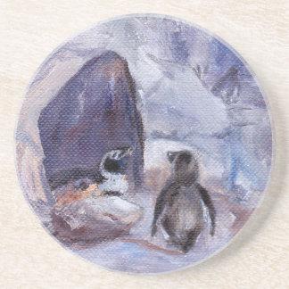 pingüinos de la jerarquización posavasos para bebidas