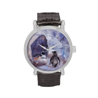Pingüinos de la jerarquización relojes
