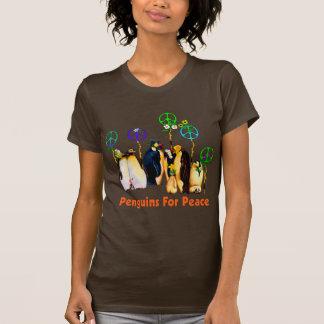 Pingüinos de la paz camisas
