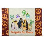 Pingüinos de la paz manteles individuales