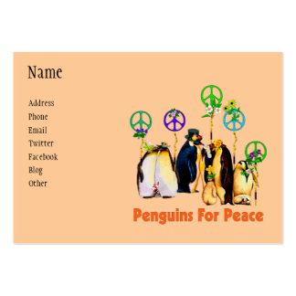 Pingüinos de la paz tarjeta de visita