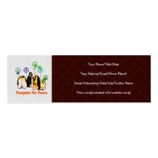 Pingüinos de la paz plantilla de tarjeta de visita