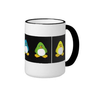 Pingüinos de la piscina del pingüino tazas de café