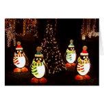 Pingüinos de las Felices Navidad Felicitaciones