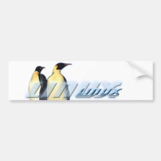 Pingüinos de Linux Pegatina De Parachoque