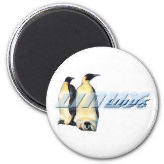 Pingüinos de Linux Imán Redondo 5 Cm