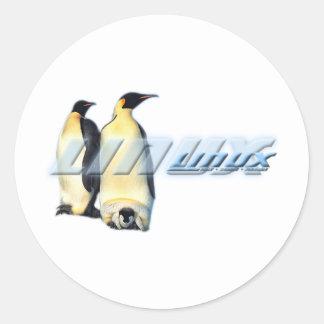 Pingüinos de Linux Pegatinas Redondas