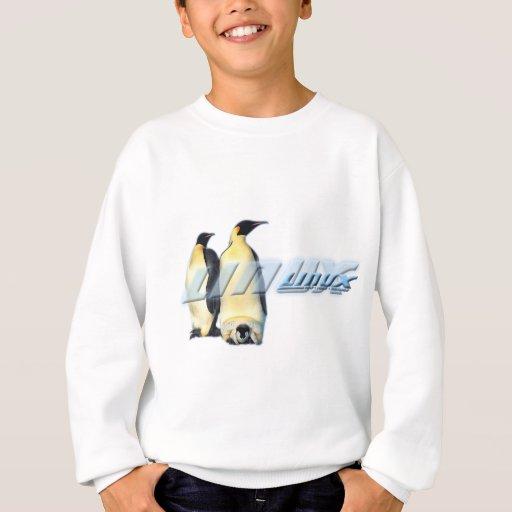 Pingüinos de Linux Sudadera