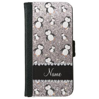 Pingüinos de plata conocidos personalizados del carcasa de iPhone 6