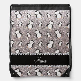 Pingüinos de plata conocidos personalizados del mochilas