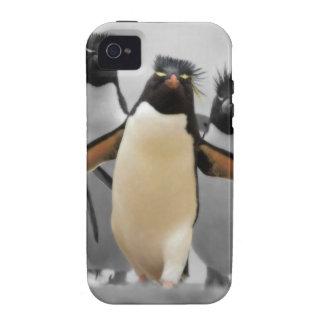 Pingüinos de Rockhopper iPhone 4/4S Carcasa