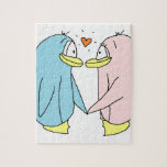 Pingüinos del amante puzzle