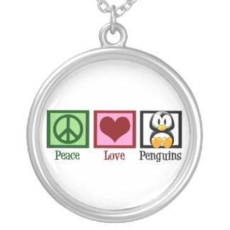 Pingüinos del amor de la paz joyeria