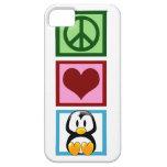 Pingüinos del amor de la paz iPhone 5 Case-Mate cárcasa