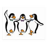 Pingüinos del baile postales