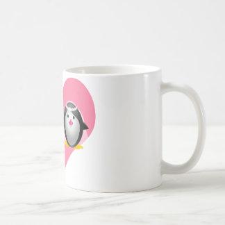 Pingüinos del boda taza