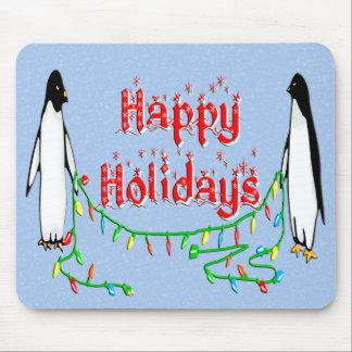 Pingüinos del día de fiesta tapetes de ratones