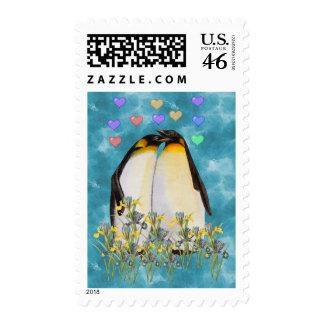 Pingüinos del el día de San Valentín